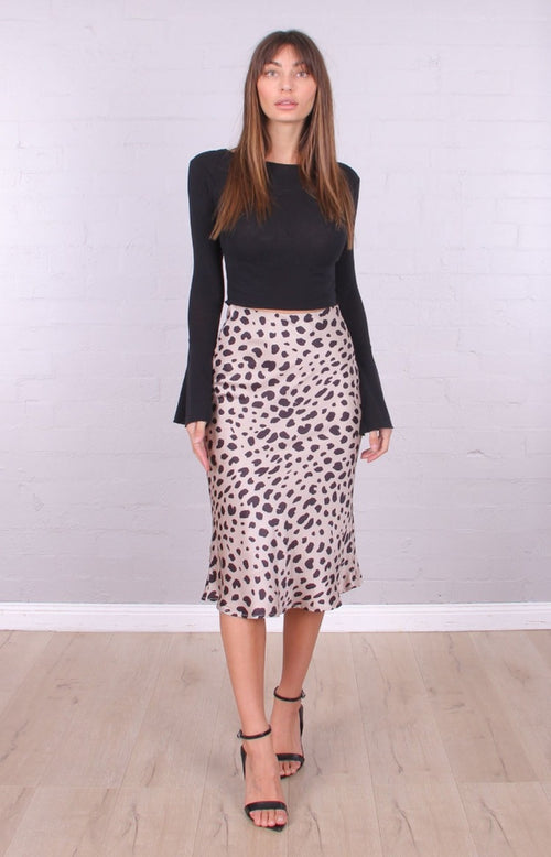 Easy To Please Leopard Skirt