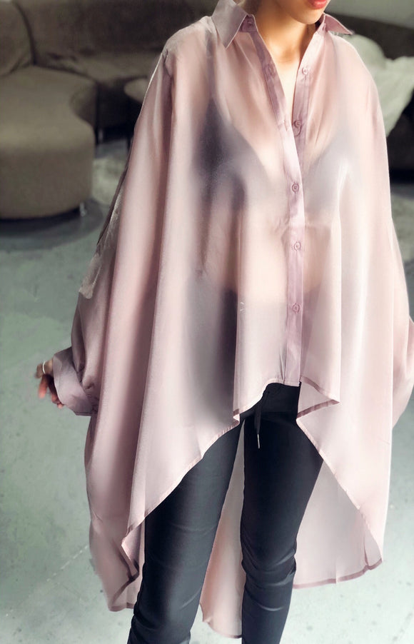 Shimmer Billow Blouse in Lilac