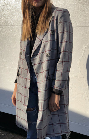 Renee Plaid Trench/Dress