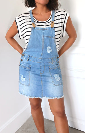 Marlie Skirt Denim Pinafore