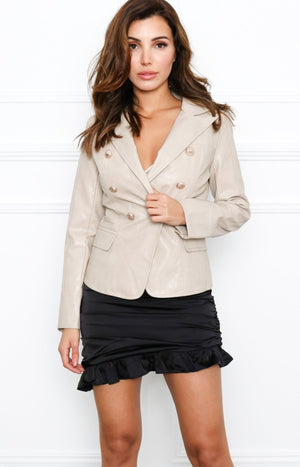 No Excuses Blazer in Nude