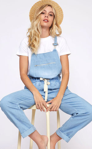 Alexa Chambray Denim Overalls