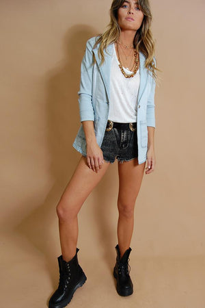 Soldier On Denim Blazer