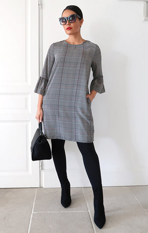 Celine Plaid Dress