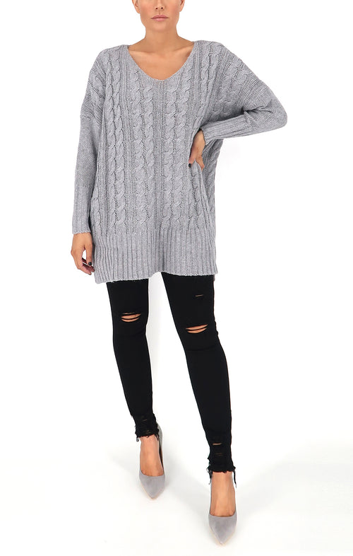 Faith Sweater in Grey