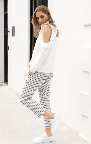 Hannah Slouch Pants in Grey