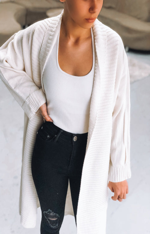 Come On Over Cardi in Cream