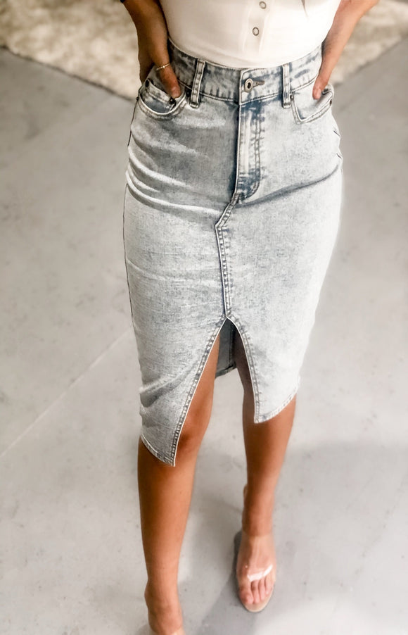 Tread Lightly Denim Skirt
