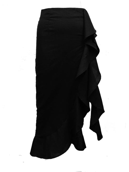 Under The Mistletoe Skirt in Black