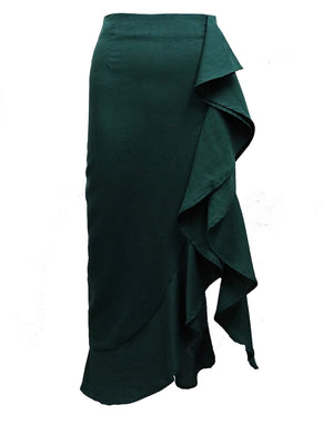 Under The Mistletoe Skirt in Emerald