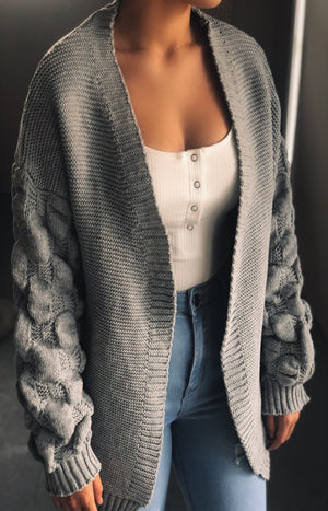 Above All Cardigan in Grey