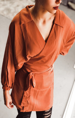 Molly Wrap Dress Top