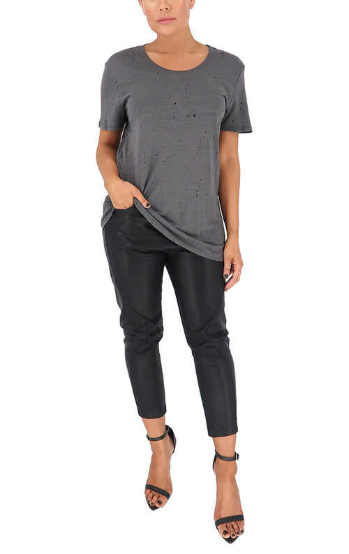 Max Distressed Tee in Charcoal