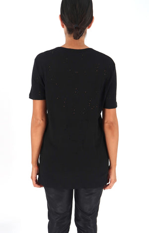 Max Distressed Tee in Black