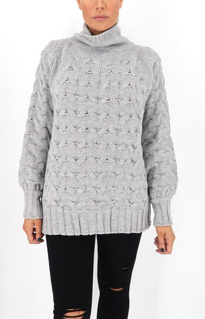 Mia Knit Sweater in Grey