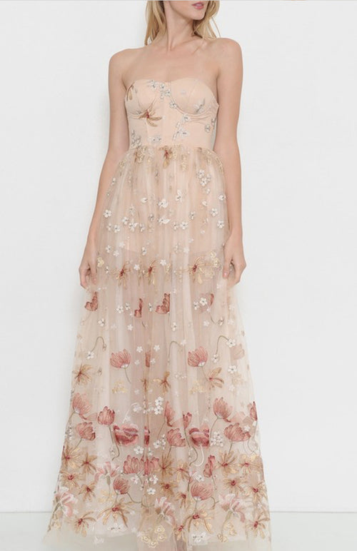 Opulent Embroidered Maxi Dress