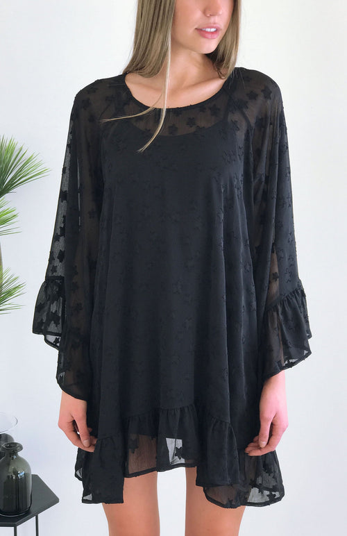 Nightcap Dress/Tunic in Black