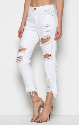 Tammy Boyfriend Jeans in White