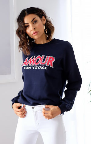 Amour Sweater in Navy