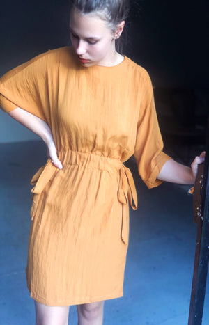 Pack Lightly Dress in Mustard