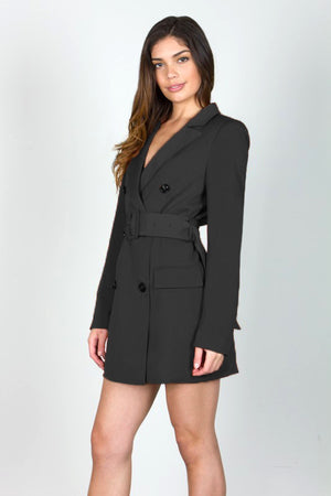 Berlin Blazer Dress in Black