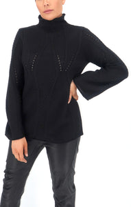 Denae Knit Sweater in Black