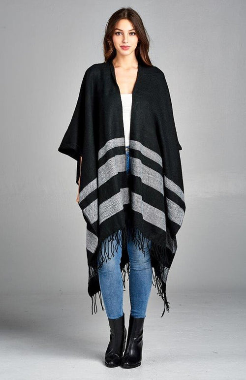 Summer Nights Poncho in Black