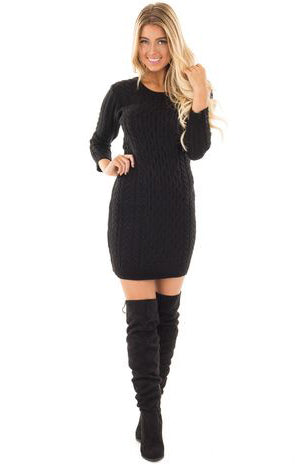 West Coast Knit Dress in Black