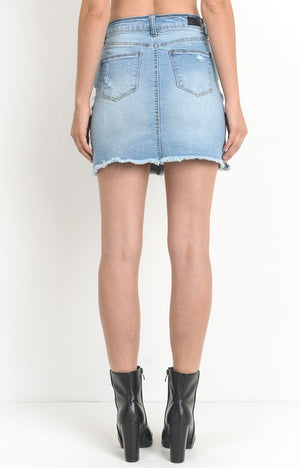Charlie Denim Skirt in Light Wash