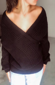 Morning After Knit Sweater in Black