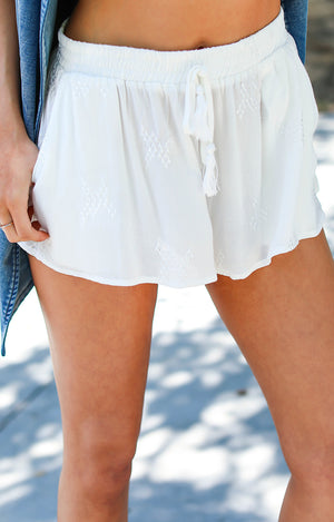 Helena Embroidered Shorts