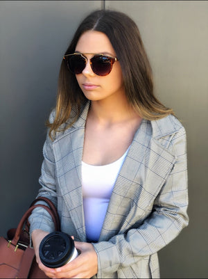 Elsie Plaid Trench Coat