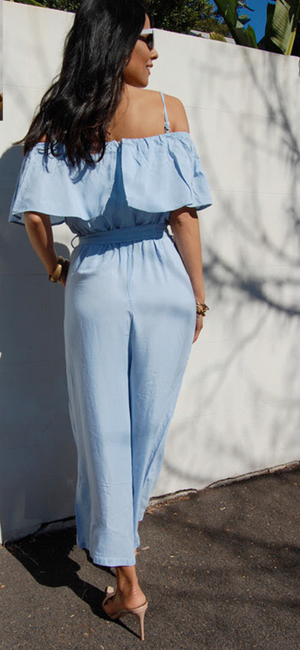 Easy Does It Chambray Jumpsuit