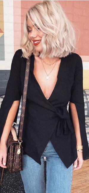 Boss Top in Black