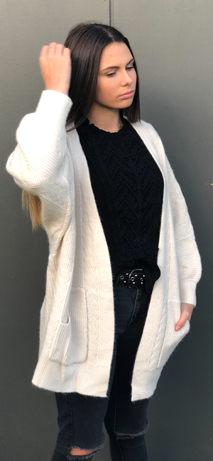 Ainsley Knit Cardigan in Cream
