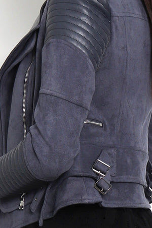 Bessy Biker Jacket - Charcoal