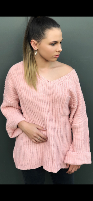 Melody Knit Sweater in Blush