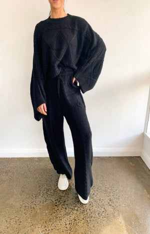 Lilianna Knit Pants in Black