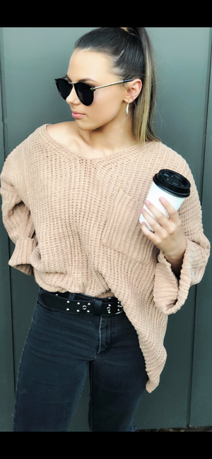 Melody Knit Sweater in Camel