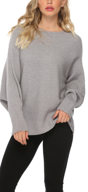 Carla Knit Sweater in Grey