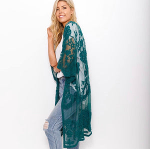 Emerald Lace Cape