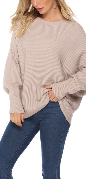 Carla Knit Sweater in Beige