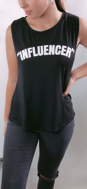 Influencer Tank in Black