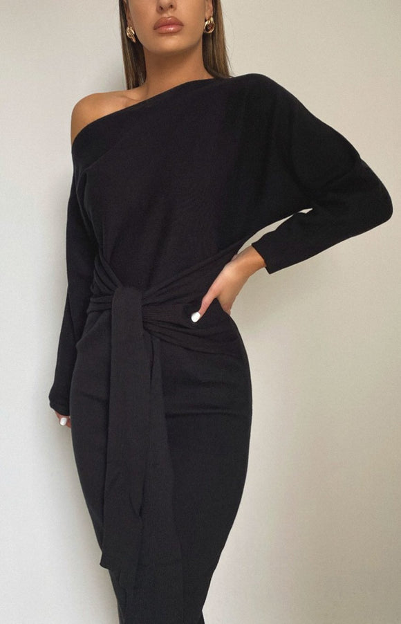 Indra Dress in Black - PREORDER