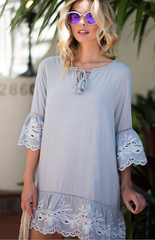 Jalina Embroidered Shift Dress