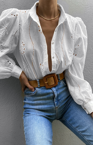 Knowles Blouse in White