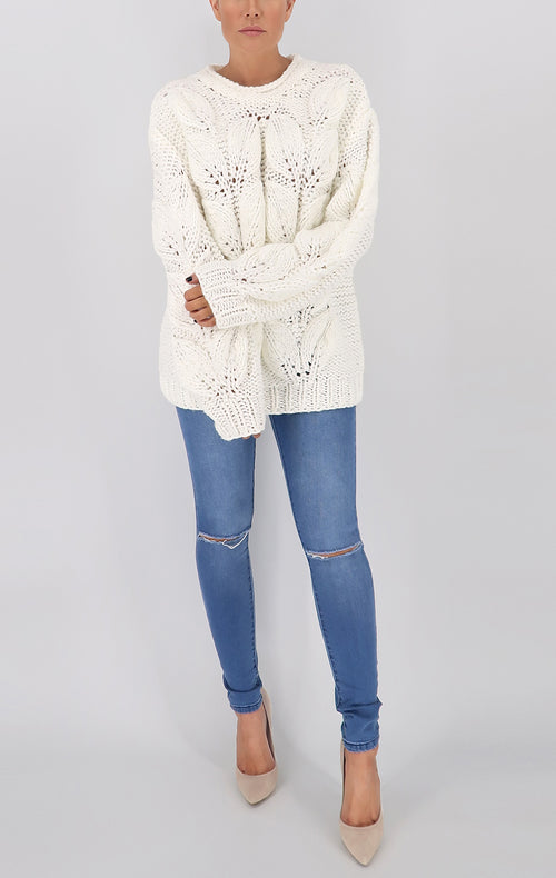 Munich Knit Sweater in Ivory