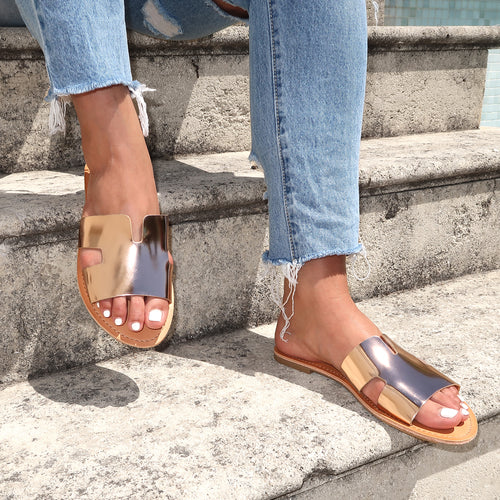Savannah Slides in Rose Gold
