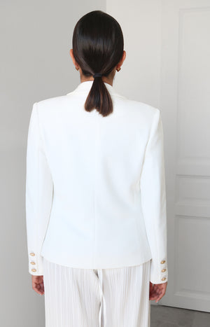 Shanel Blazer in White