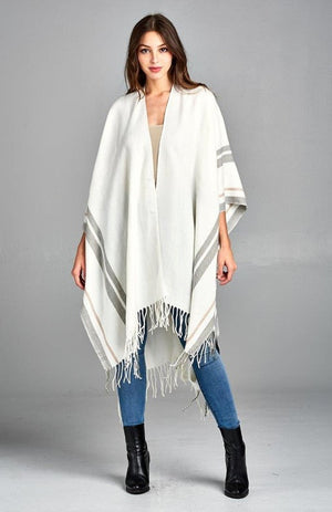 Summer Nights Poncho in Off White